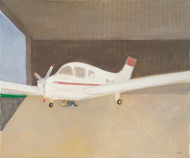 ringheim小型飞机场之一.50cm×60cm.布面油画.