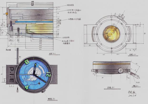 手表设计图纸及外观